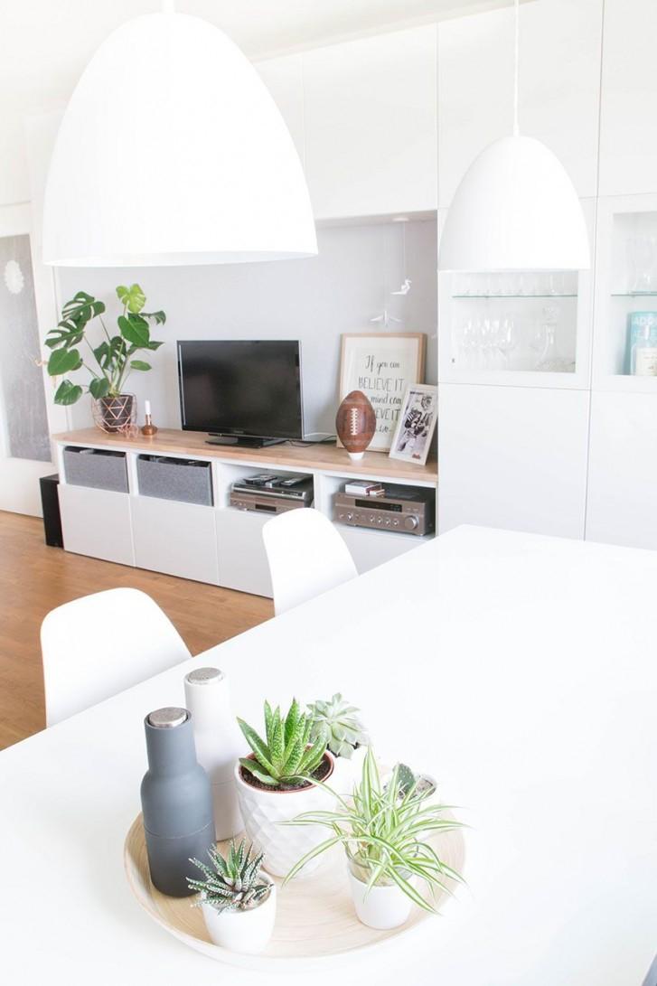 Sommerfeeling In Der Wohnung  Nordicswedishgerman Look von Pflanzen Dekoration Wohnzimmer Bild