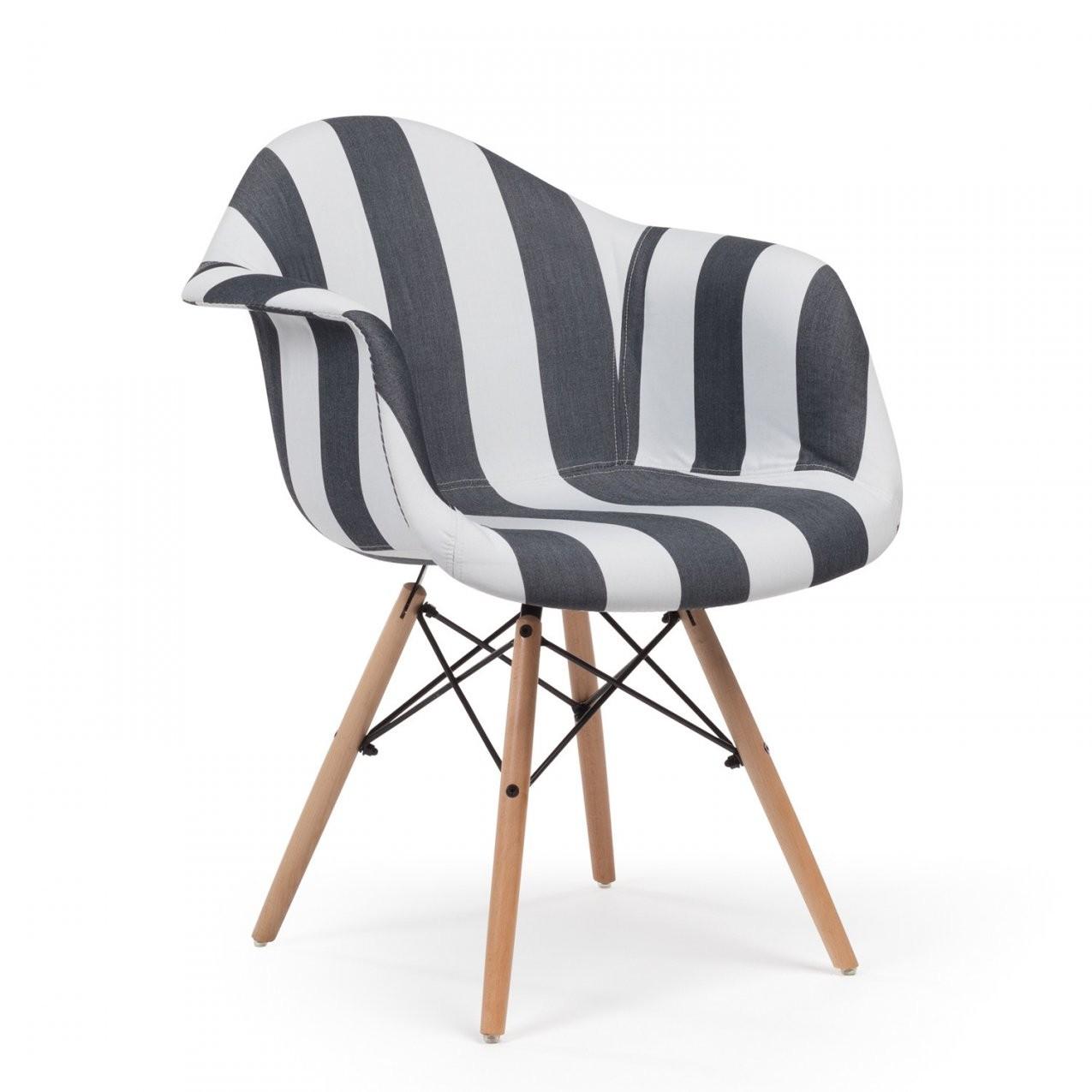 Stuhl Mit Armlehnen Ims Gepolstert Streifen von Günstige Esszimmerstühle Mit Armlehne Bild