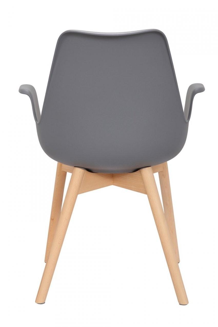 Stuhl Stühle Bequem Armlehne Holz Retro Modern Design Grau 2Er Set von Esszimmerstühle Modern Mit Armlehne Photo