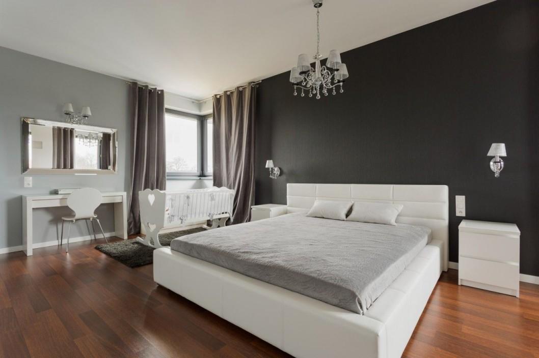 Wandgestaltung Schlafzimmer Hinter Dem Bett  Bett Ideen von Schlafzimmer Ideen Wandgestaltung Bild