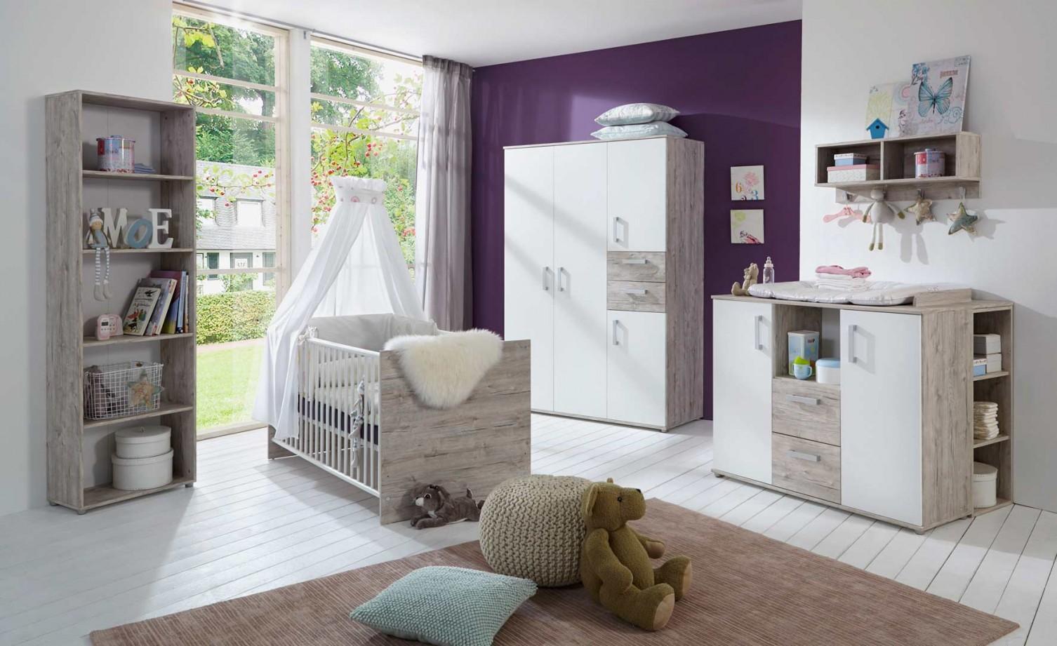 Babyzimmer Eichesanddekor Weiß von Babyzimmer Weiß Eiche Photo