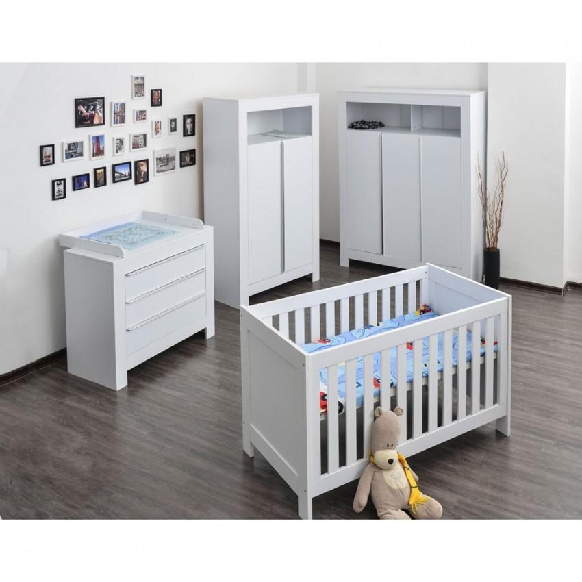 Babyzimmer  Kinderzimmer Komplett Felix In Weiß von Babyzimmer Komplett Mit Matratze Photo