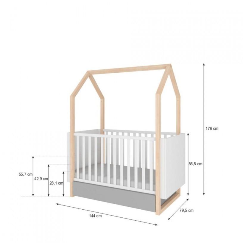 """Babyzimmer Komplett """"dinky Castle"""" 4Teilig von Babyzimmer Komplett Mit Matratze Bild"""