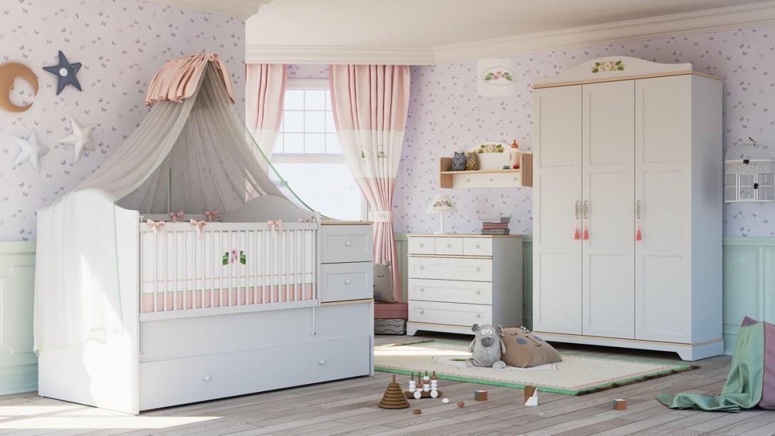 """Babyzimmer Komplett """"katharina"""" Weiß 4Teilig von Babyzimmer Komplett Mit Matratze Bild"""