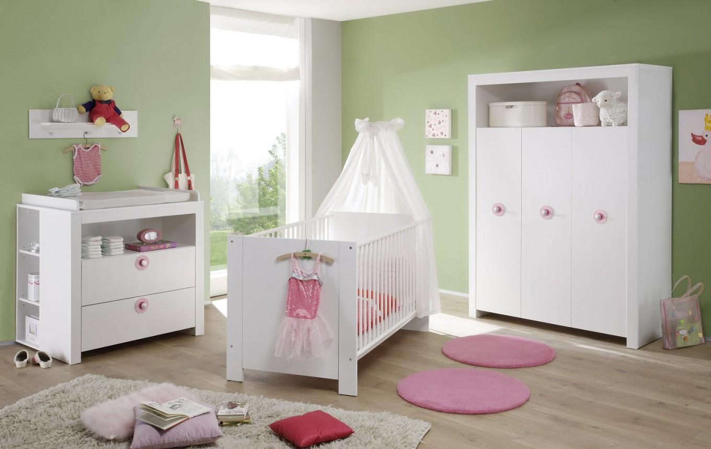 """Babyzimmer Komplett """"olivia"""" 3Teilig Weiß von Babyzimmer Set Weiß Bild"""