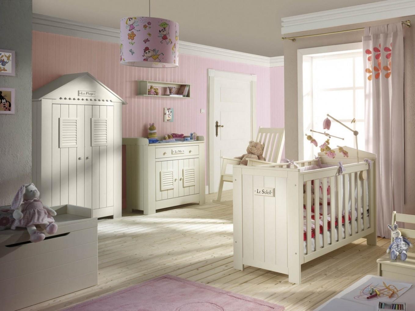 Babyzimmer Komplett Set Marseille Kiefer Massiv 4Teilig von Babyzimmer Komplett Mit Matratze Bild