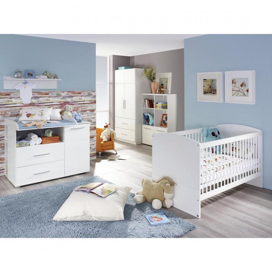 Babyzimmer Manja 5Teilig Hochglanz Weiß  Alpinweiß von Babyzimmer Weiß Hochglanz Bild