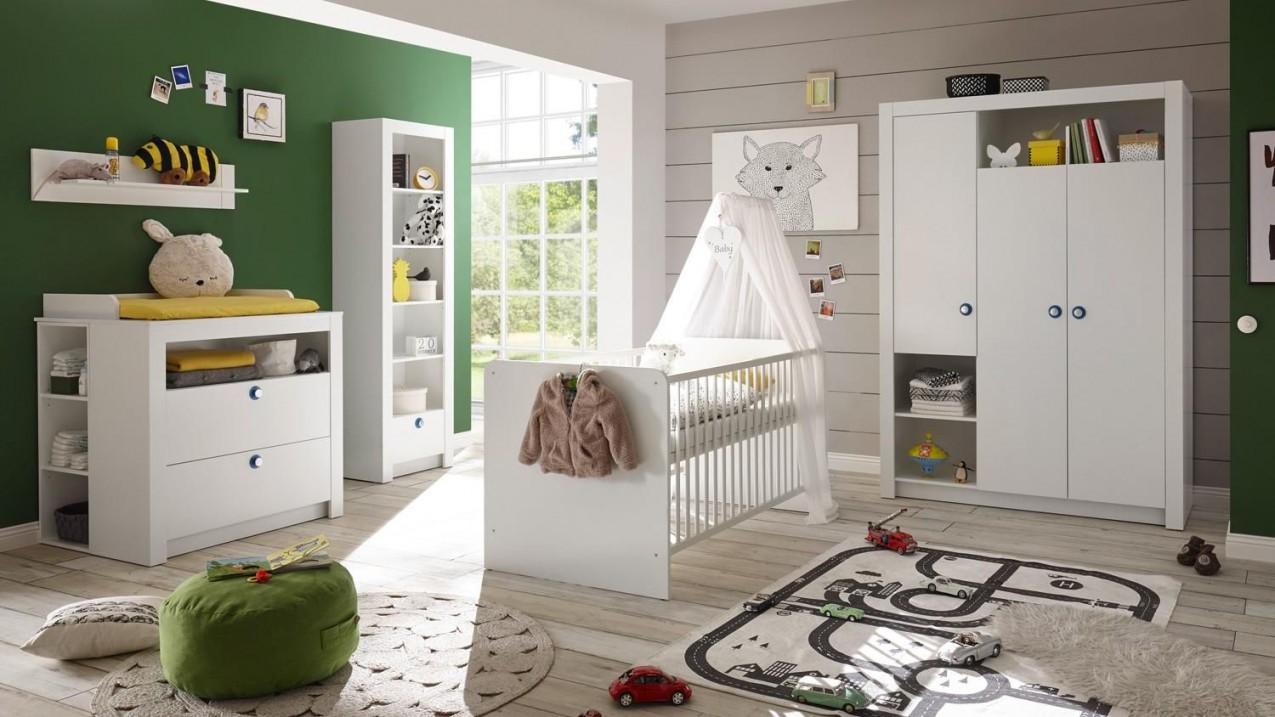 Babyzimmer Paula Komplett Set Kinderzimmer Babymöbel Weiß 6 von Babyzimmer Komplett Set Grau Bild
