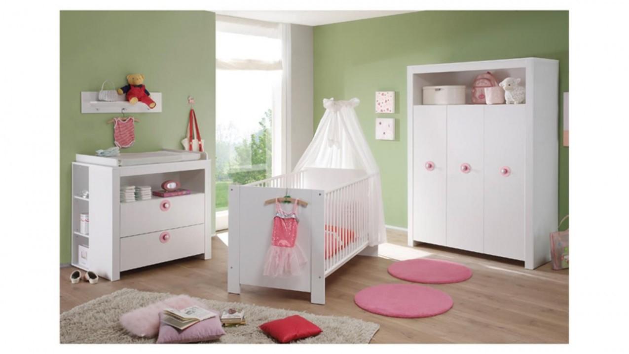 Babyzimmer Set 3 Teilig Olivia Kinderzimmer In Weiß von Babyzimmer Set Weiß Bild