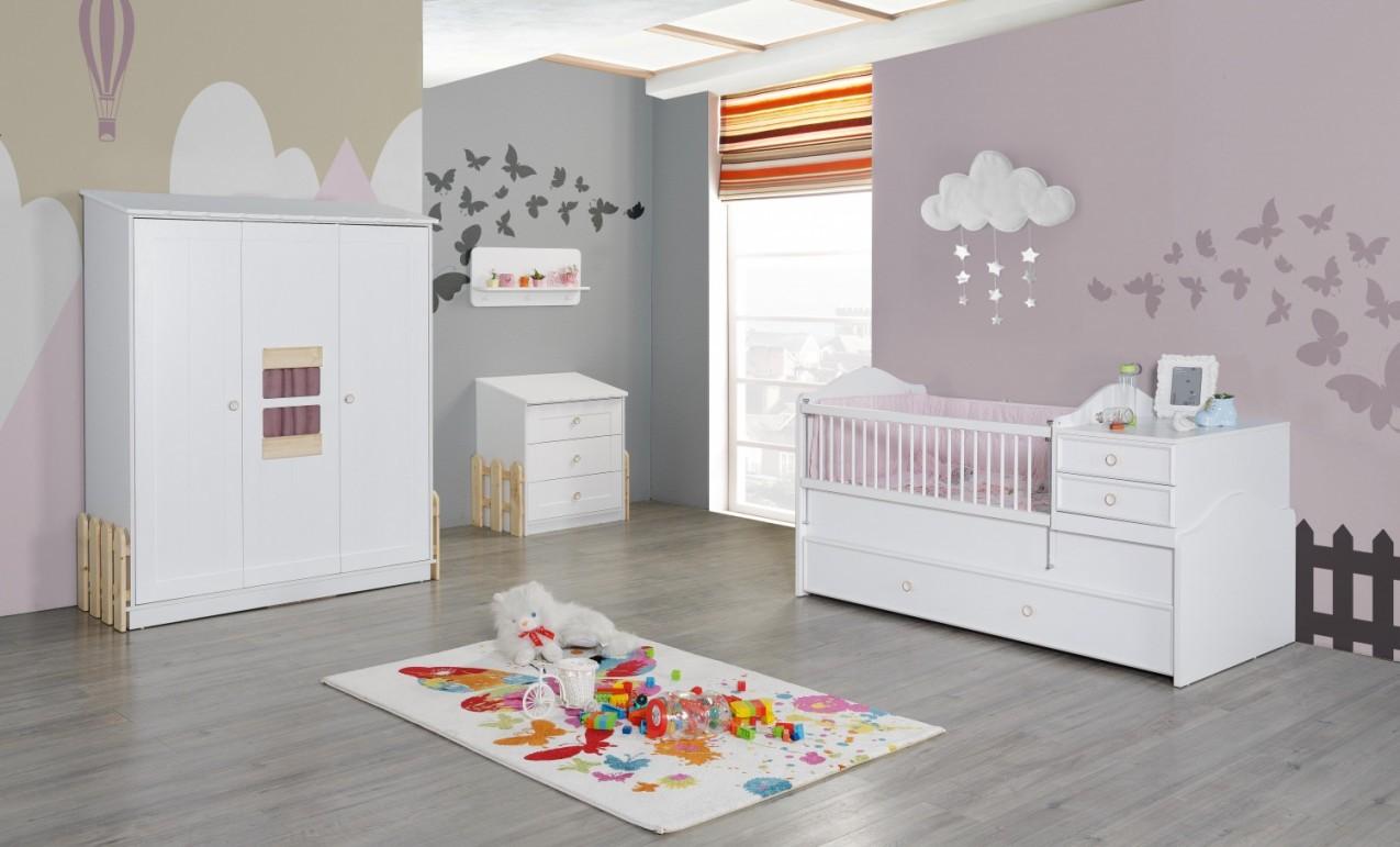 Babyzimmer Set Weiß Rosa Homeland 4Teilig von Babyzimmer Set Weiß Photo