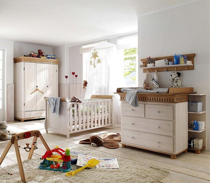 Babyzimmer Set Weiss  Kinderzimmer Modrn von Babyzimmer Komplett Massivholz Photo