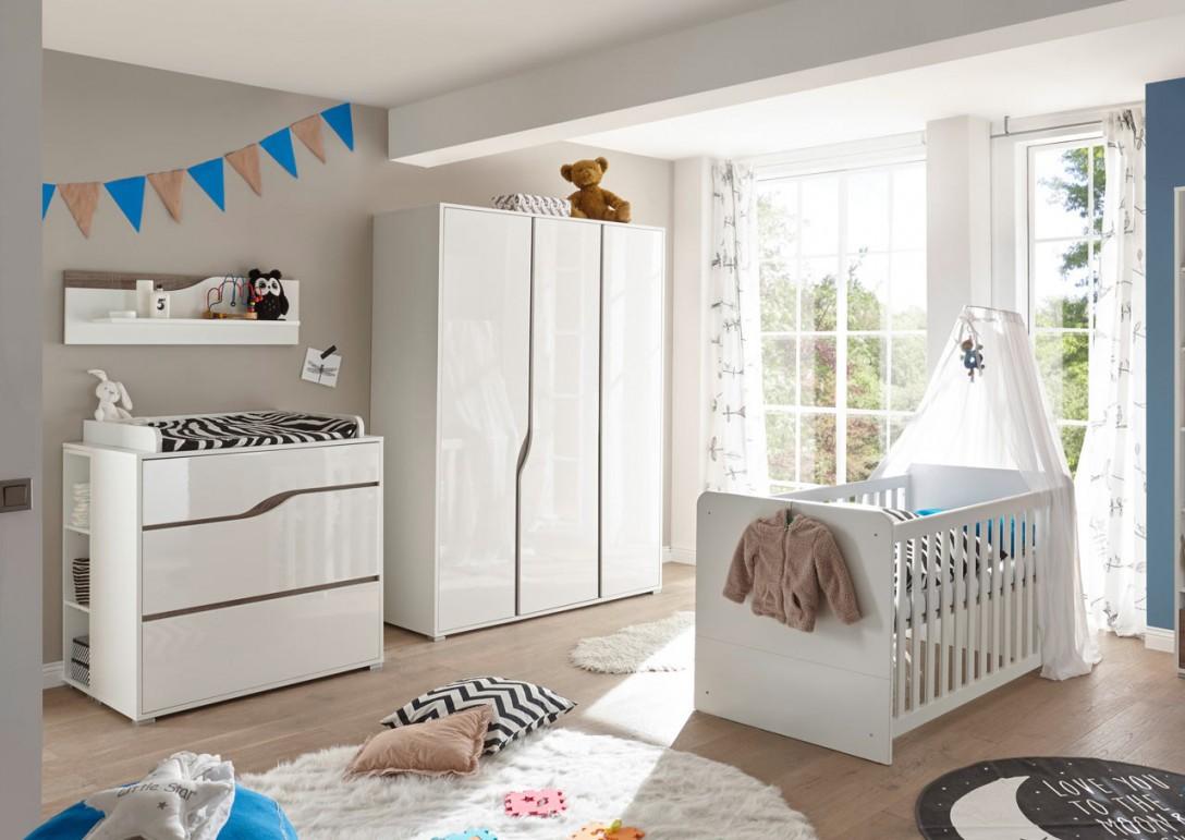 Babyzimmer Weiß  Eiche Sonoma Trüffel Dekor von Babyzimmer Weiß Eiche Photo