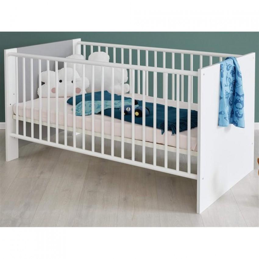 Babyzimmer Weiß Und Grau Komplett Set 2Teilig Pia Wickelkommode Und  Babybett von Babyzimmer Weiß Grau Bild