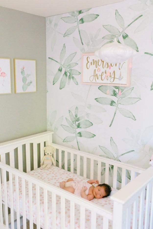 Beruhigender Tropischer Kindergarten Mit Einem Hauch Von von Babyzimmer Deko Bilder Photo