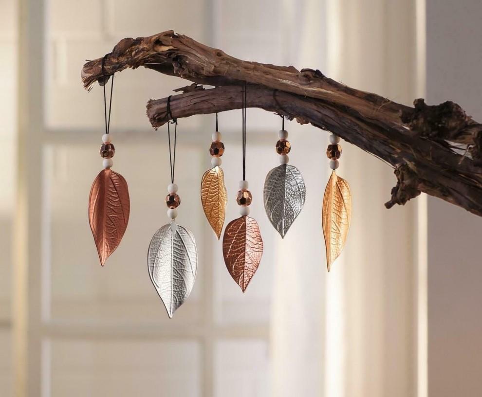 Details Zu Hänger Blätter Blatt Deko Fenster Metall Herbst Dekoration von Herbst Dekoration Fenster Bild
