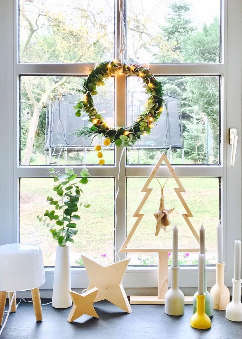 Fensterdeko Schöne Ideen Zum Dekorieren von Herbst Dekoration Fenster Bild