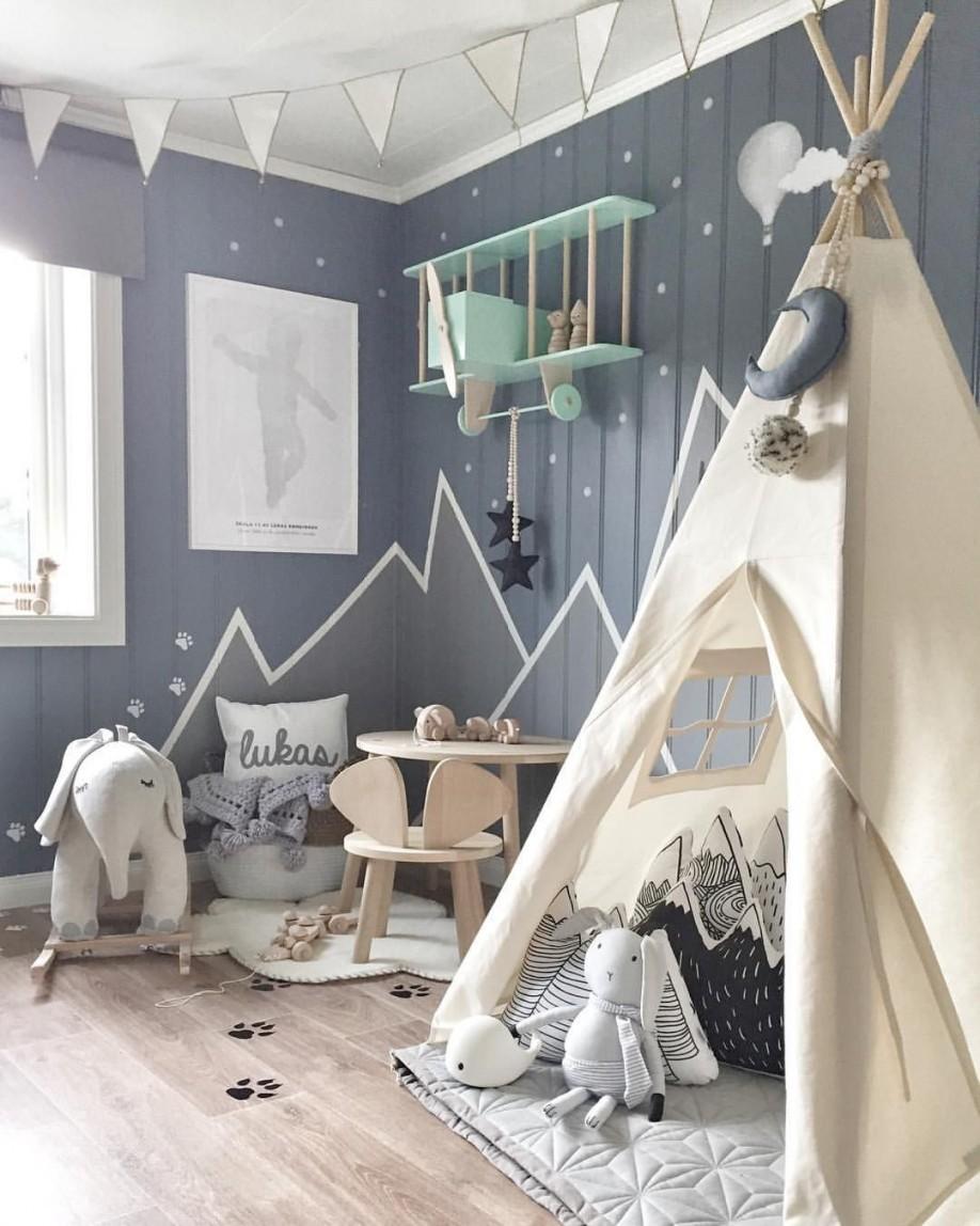 Graue Wände Im Kinderzimmer (➔ Instagram) In 2019  Kinder von Babyzimmer Wand Ideen Bild
