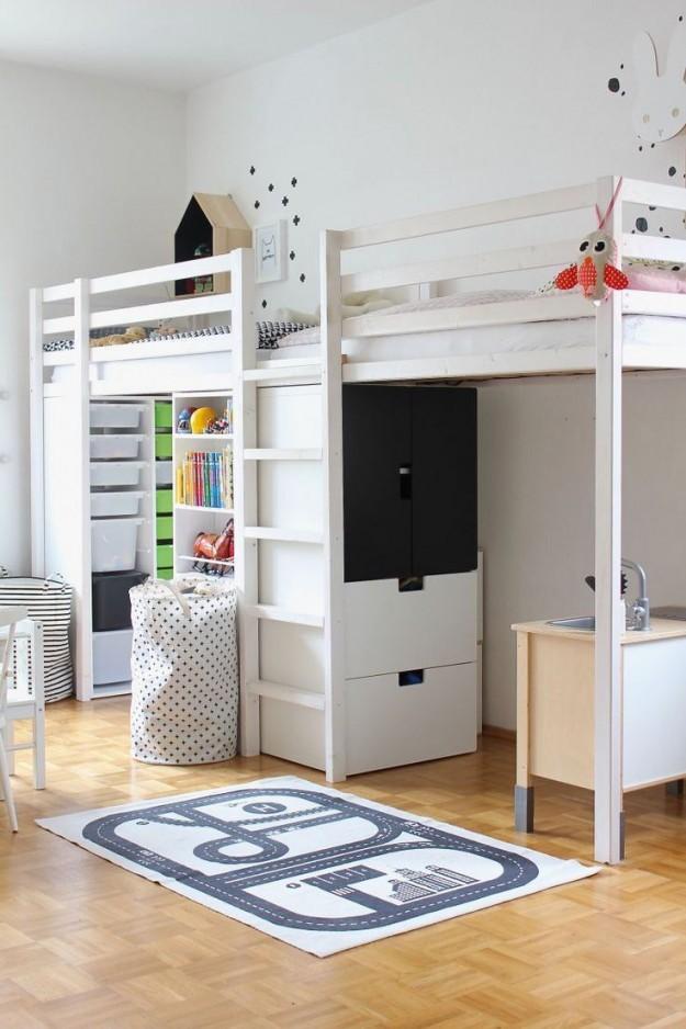 Hübsches Helles Kinderzimmer Mit Hochbetten Für Zwillinge von Babyzimmer Zwillinge Komplett Bild
