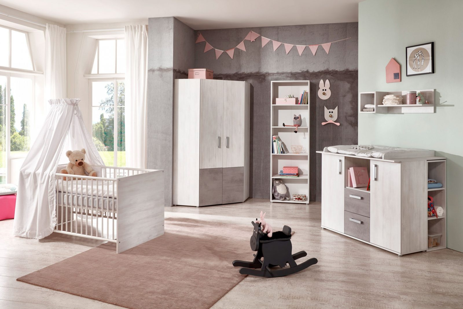 Insa Von Arthur Berndt  Babyzimmer 3Teilig von Babyzimmer Weiß Grau Photo