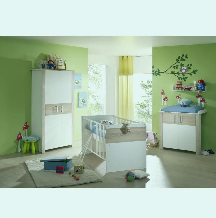 Kinderzimmer Set Baby Natürlich Zwillinge Babyzimmer von Babyzimmer Zwillinge Komplett Bild