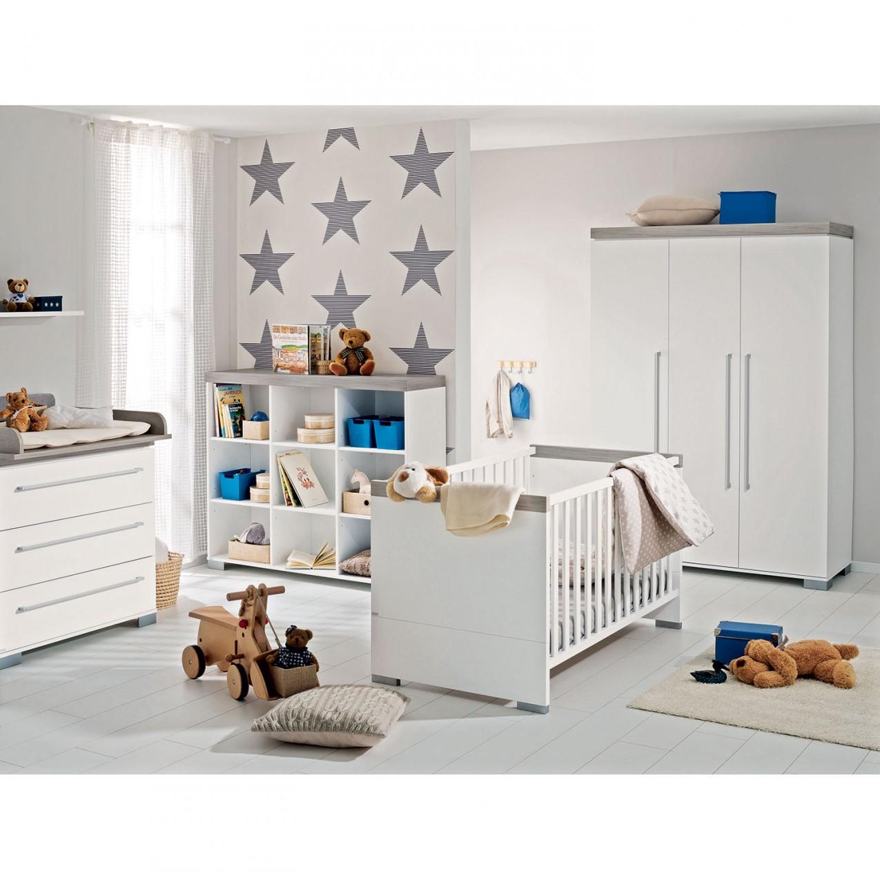 Paidi Babyzimmer 3Teilig Kira Weisseiche Nautik von Babyzimmer Weiß Eiche Photo