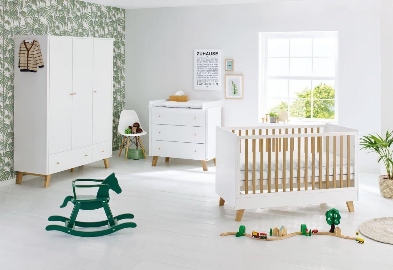 Pan Von Pinolino  Babyzimmer Retro Look Weiß  Eiche von Babyzimmer Weiß Eiche Bild