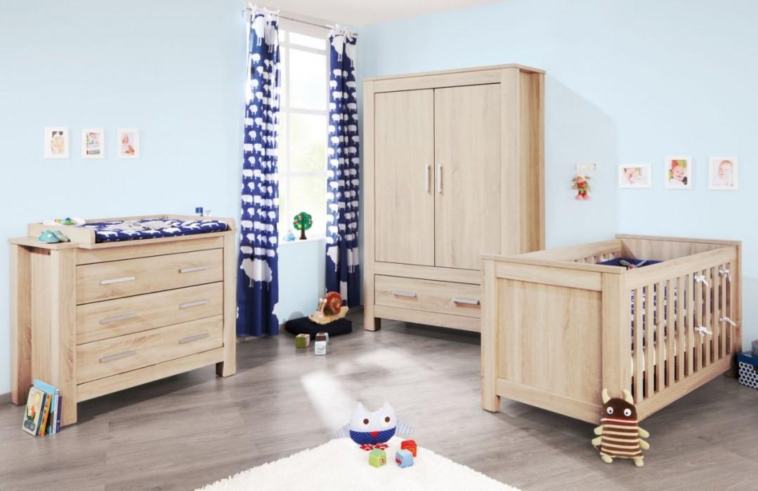 Preiswerte Babyzimmermöbel Rustikal Eicheholz von Günstige Babyzimmer Möbel Bild