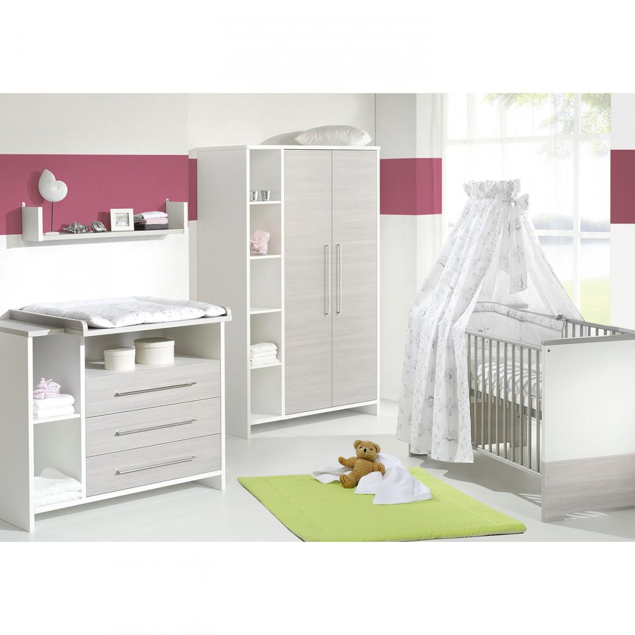 Schardt Babyzimmer 3Teilig Eco Silber von Babyzimmer Komplett Mit Matratze Photo