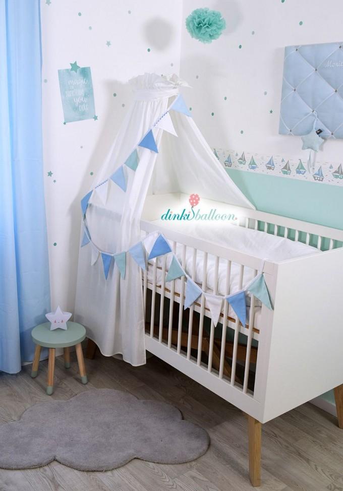 Schiffchen In Blau Mint  Grau Bei Fantasyroom Online von Babyzimmer Grau Mint Photo