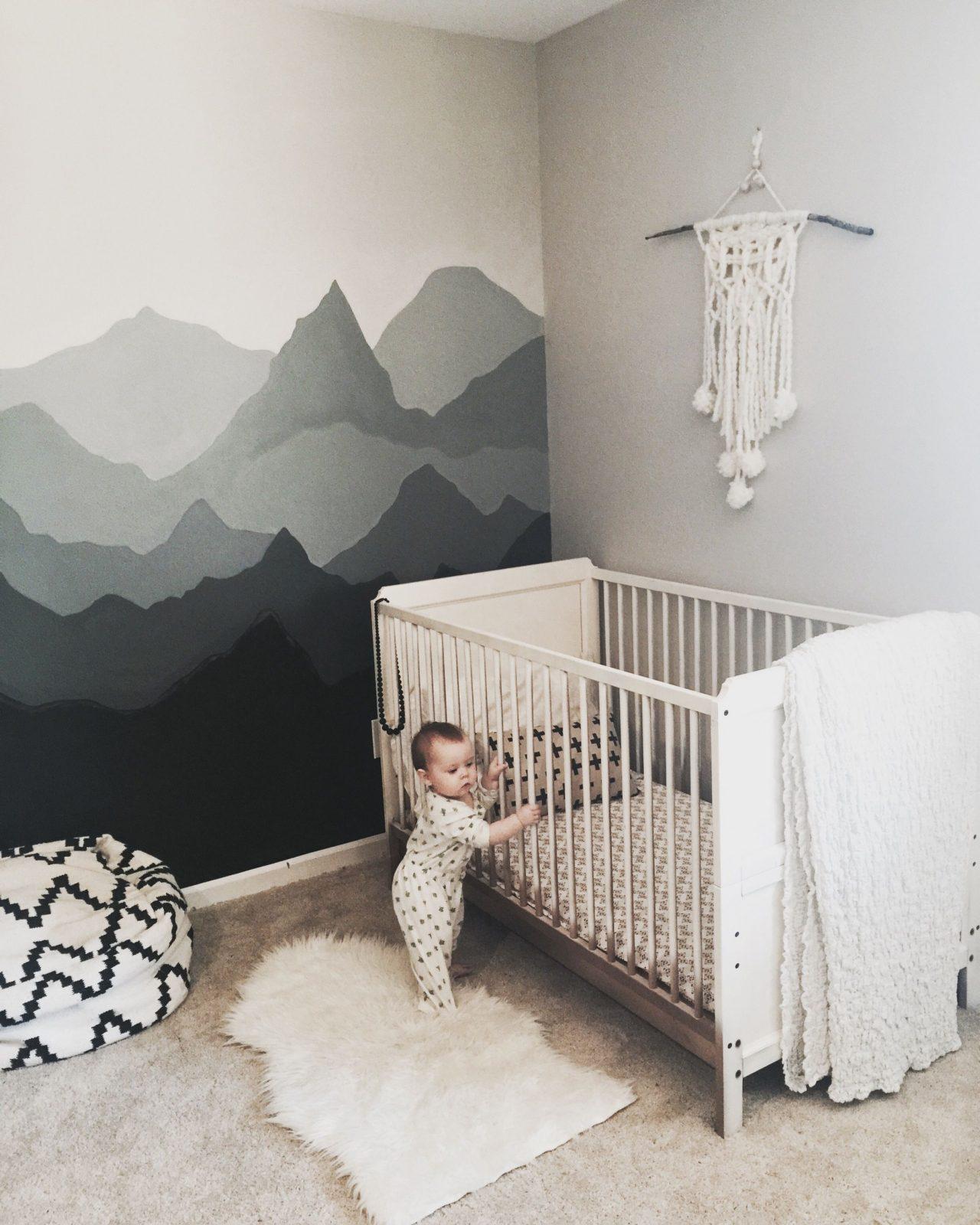 Schöne Idee Fürs Babyzimmer Diytutorial  Nursery von Babyzimmer Wand Ideen Photo
