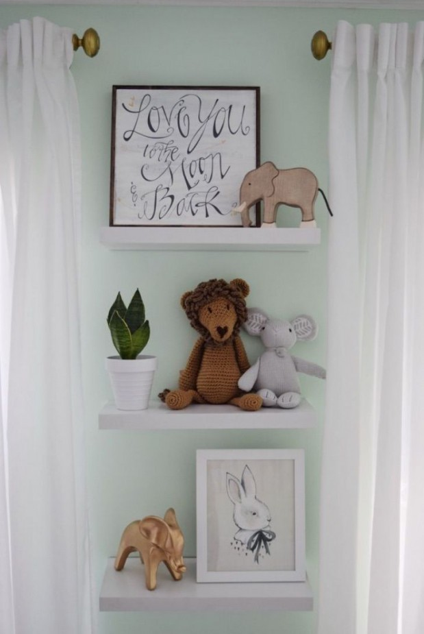 Schöner Wanddekor Für Babyzimmer Ideen  Babyzimmer Deko von Babyzimmer Wand Ideen Bild