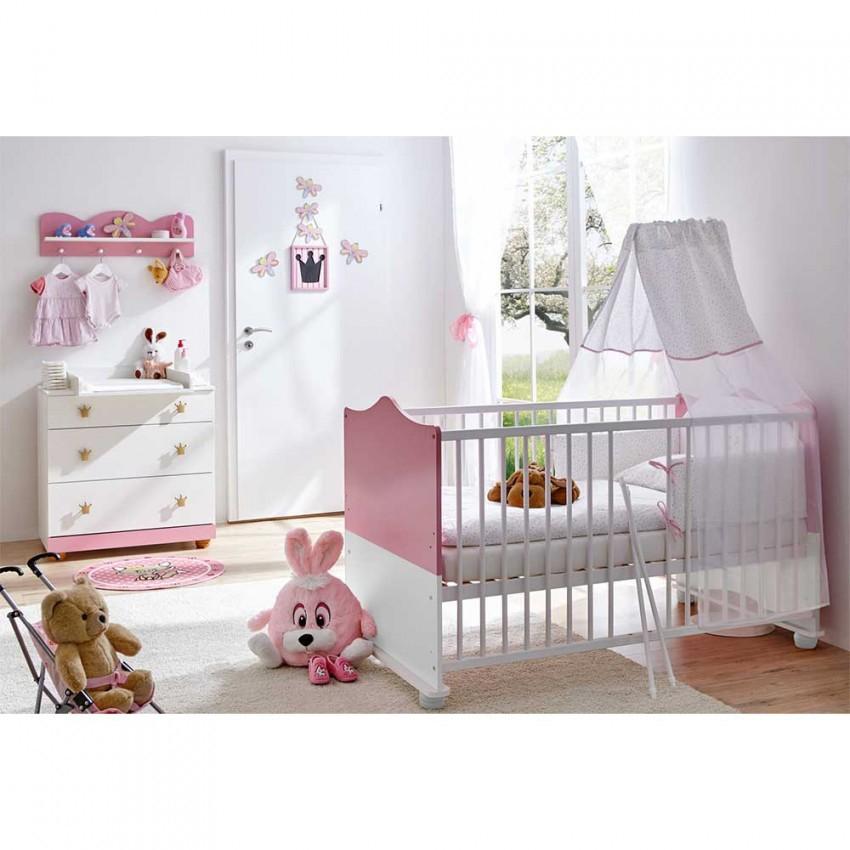 Set Mädchen Babyzimmer Möbel  Nicrusa (3Teilig) von Babyzimmer Für Mädchen Bild