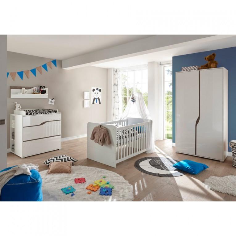 Ticaa Babyzimmer Paul 4Teilig Weißeiche 2Türig von Babyzimmer Weiß Eiche Bild
