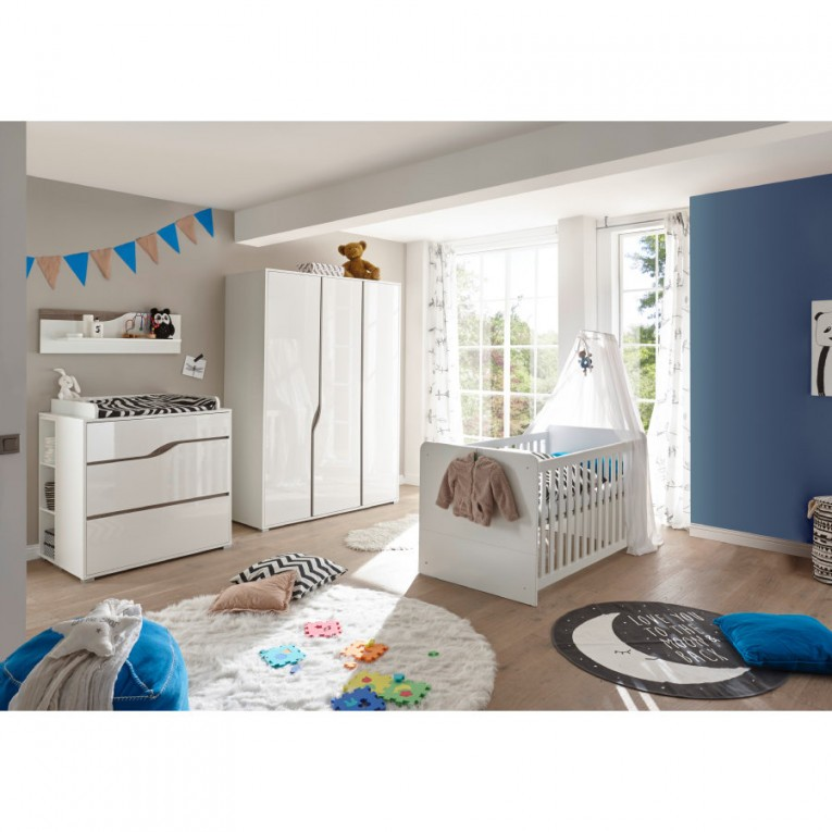 Ticaa Babyzimmer Paul 4Teilig Weißeiche 3Türig von Babyzimmer Weiß Eiche Bild