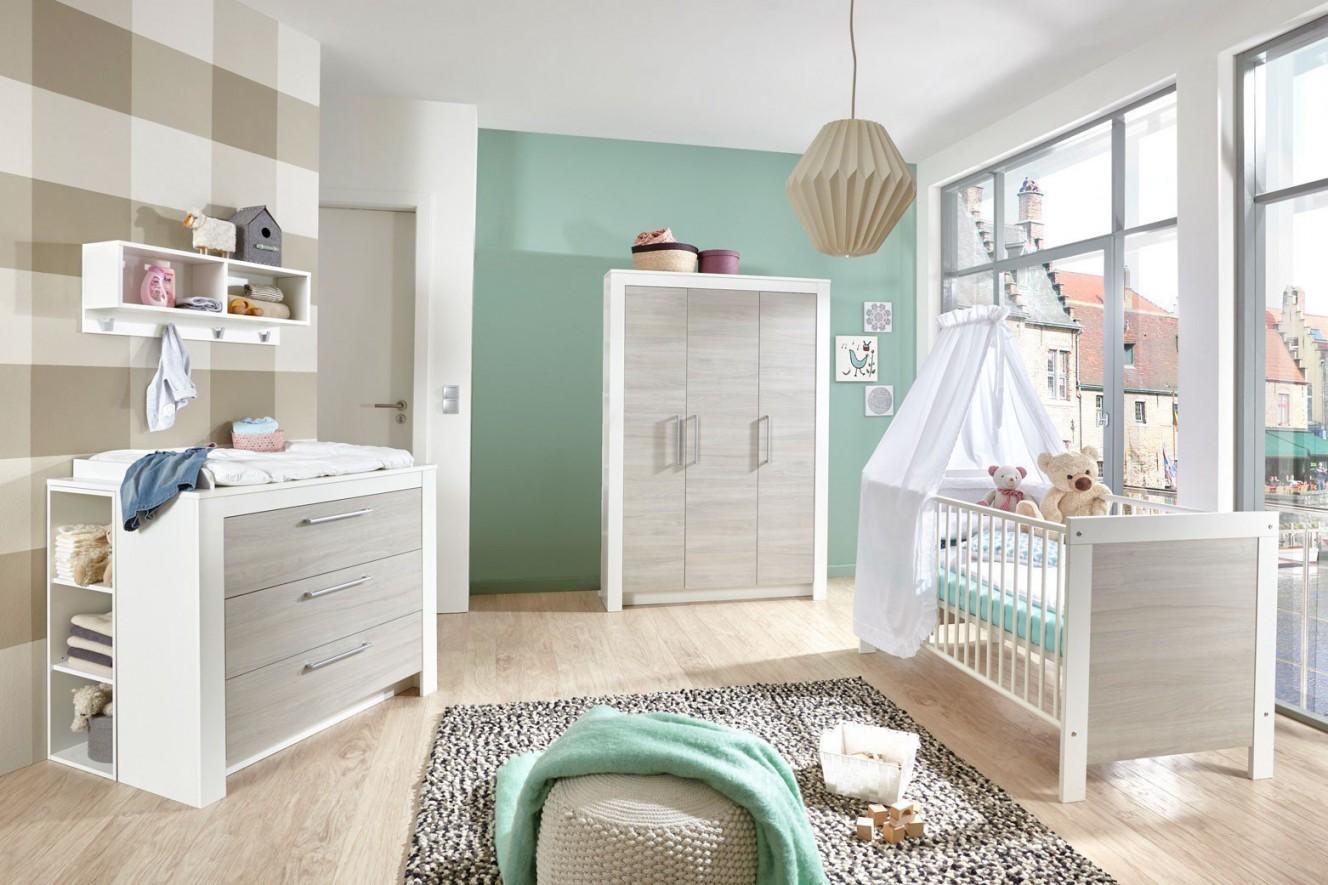 Toni Von Arthur Berndt  Babyzimmer Weiß  Ulme Silbergrau von Babyzimmer Weiß Grau Bild